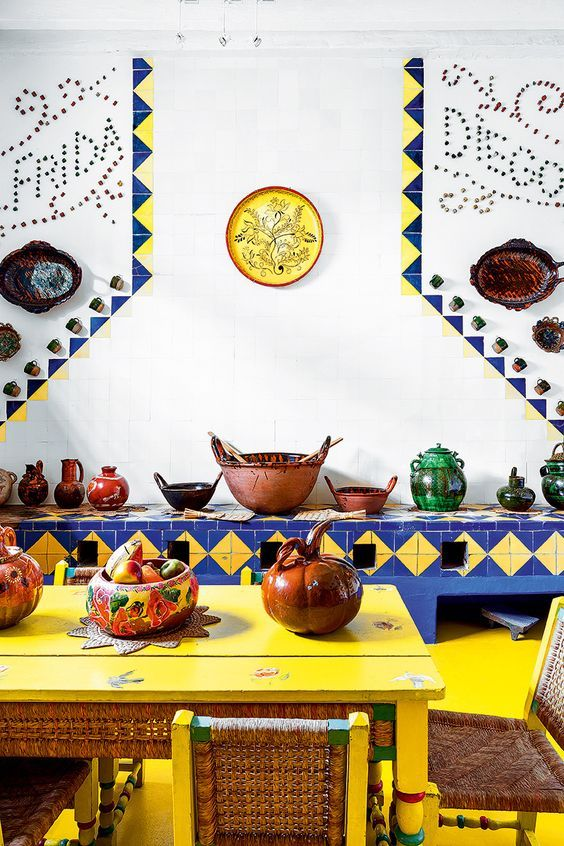 Life As A Water Element - Frida Kahlo's house in Cayoacán, Mexico:   On the...