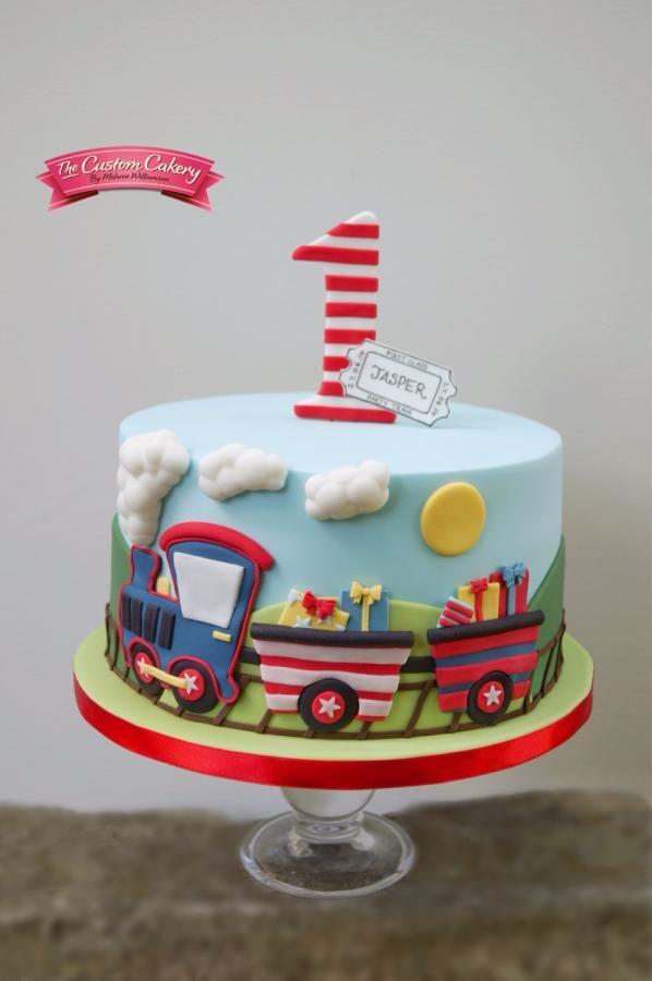 I had free rein for this train themed cake for a regular customer. I wanted to try something different so stayed away from modelling this time. I also got to make his smash cake :) Thanks for looking, I hope you like it x