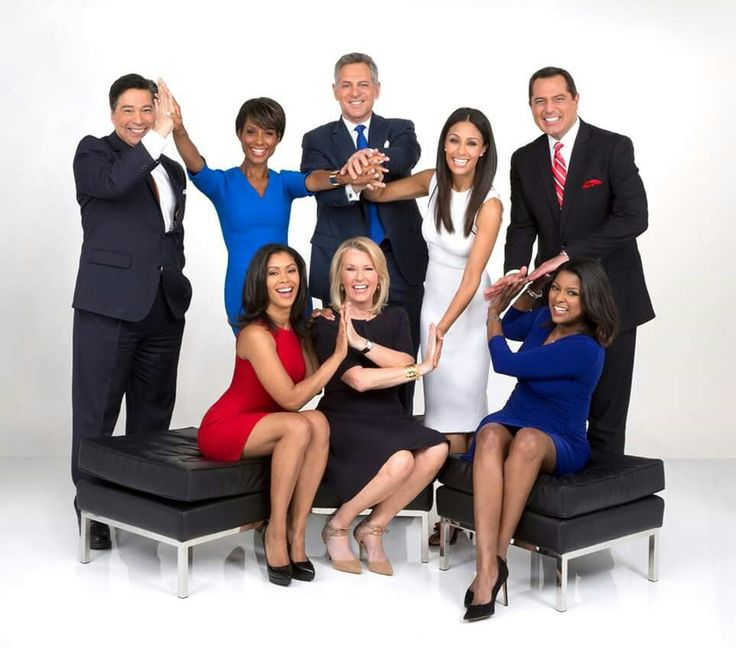 Eyewitness news channel(7)ABC team:    Top left; David Novarro, Sade Baderinwa, Bill Ritter, Liz Cho, Ken Rosato, Bottom left; Shirleen Allicot, Diana Williams, Lori Stokers.