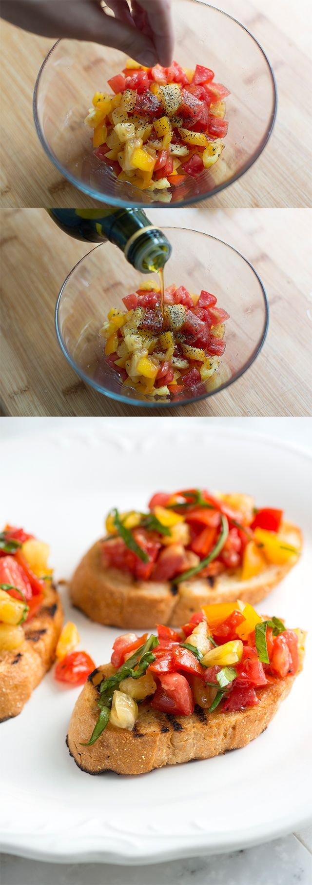 How to Make Fresh Tomato Bruschetta Recipe -- We could eat this every day! #inspiredtaste