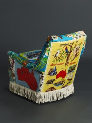 Suzie Stanford, upholsters furniture in vintage Australiana - wonderful