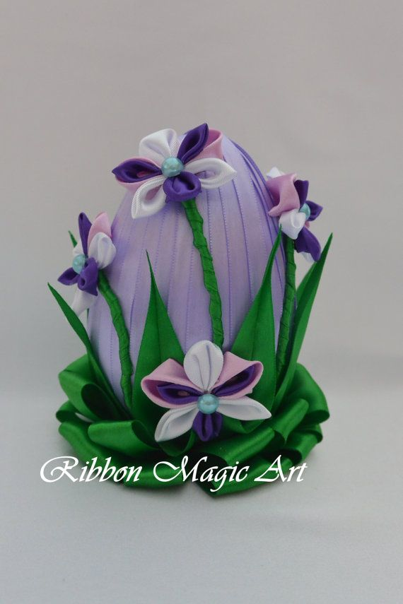 Easter eggs Easter decoration Foam Easter egg by RibbonMagicArt