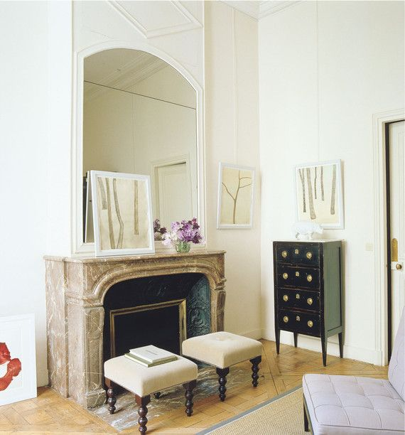 STANDARD PERFECTION | A typically creamy Parisian bedroom, designed by Lisa Jackson