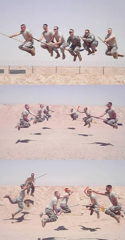Army Quidditch: even the military loves Harry! I'm not a  Harry potter fan but this is awesome !!
