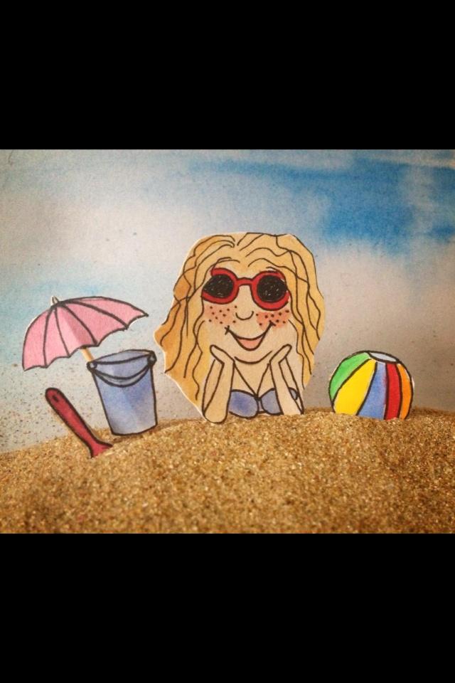 Illustration on the beach