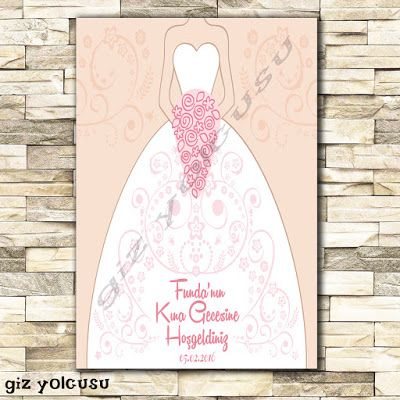 Giz Yolcusu Pembe Gelin (Pink Bride and Flowers) Karşılama Panosu (Fotoblok)