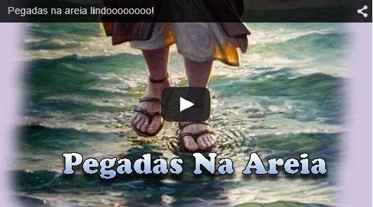 Mensagens Lindas: Pegadas na areia lindoooooooo!