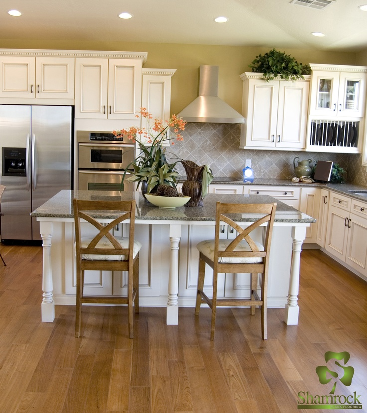21 best images about white oak flooring on pinterest for White cabinets white floor