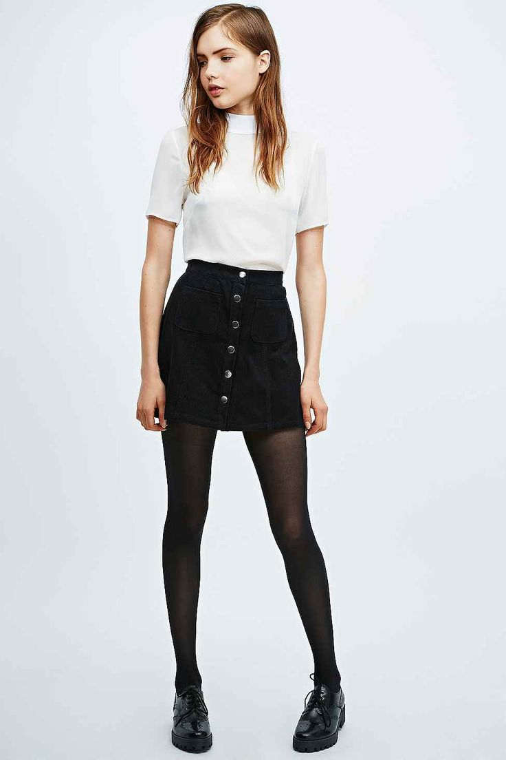 25  best ideas about Black denim skirt on Pinterest | Denim skirt ...