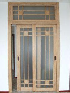 Раздвижные межкомнатные двери с фрамугой