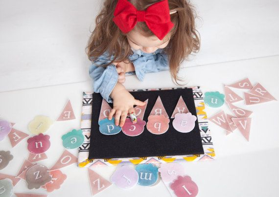 Felt Letters Matching Game - Letter Recognition Learning Activity, Preschool Learning Toy, Alphabet Letters Felt Board Set, Educational Toy