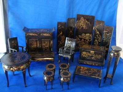 Vintage Wooden Dollhouse Furniture MINIATURE ASIAN Chinese made in Shanghai  | ASIAN DOLLHOUSE | Pinterest | Wooden dollhouse, Dollhouse furniture and  ... - Vintage Wooden Dollhouse Furniture MINIATURE ASIAN Chinese Made In