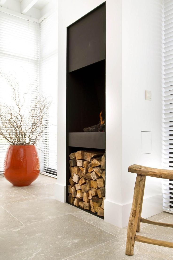 High fireplace