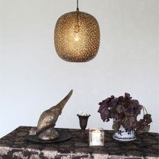 Modern hanging lamp in brass metal // Orissa - Sessak