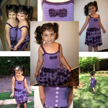 Crochet Flower Dress - Meladoras Creations Free Crochet Patterns & TutorialsCrochet Dresses, Crochet Flower, Crochet Children, Free Crochet, Crochet Baby, Creations Free, Meladoras Creations, Crochet Pattern, Crochet Clothing