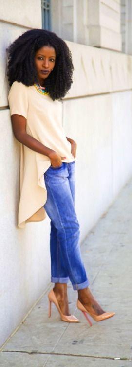 Baby Doll Blouse + Boyfriend Jeans Style Pantry