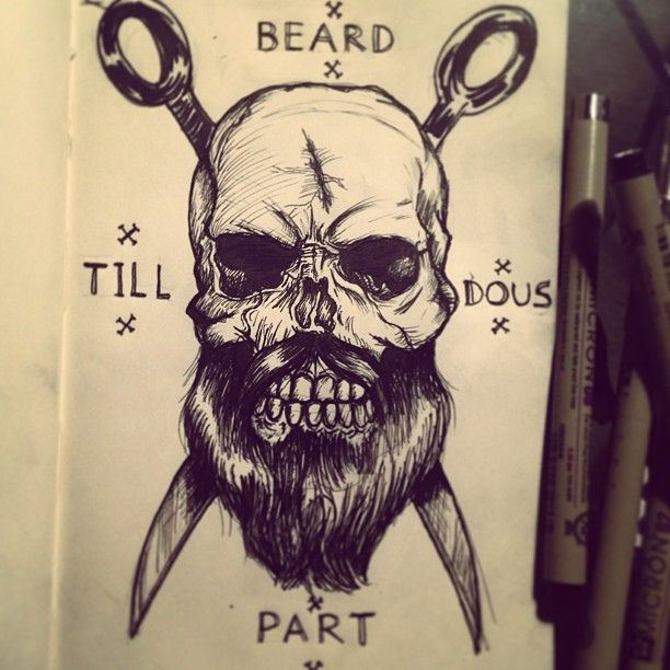 bearded skull - Google Search