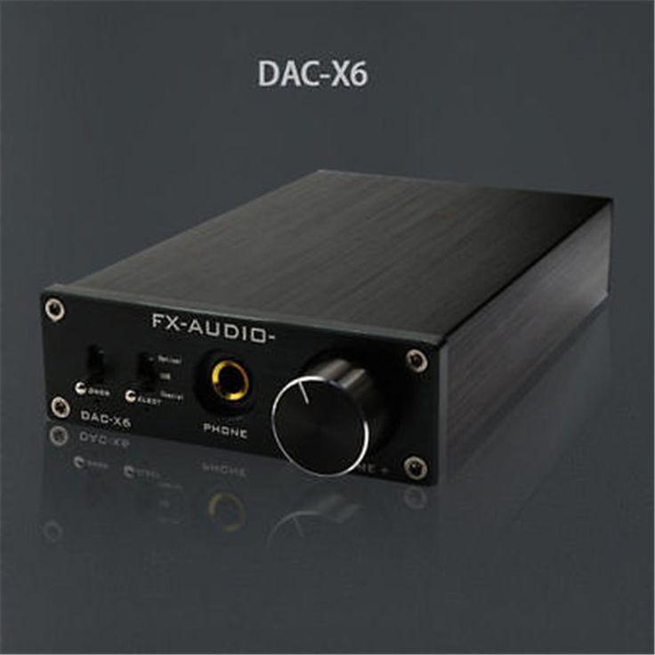 FX-Audio Feixiang DAC-X6 HiFi amp Optical/Coaxial/USB DAC Mini Home Digital Audio Decoder Amplifier 24BIT/192 12V Power Supply