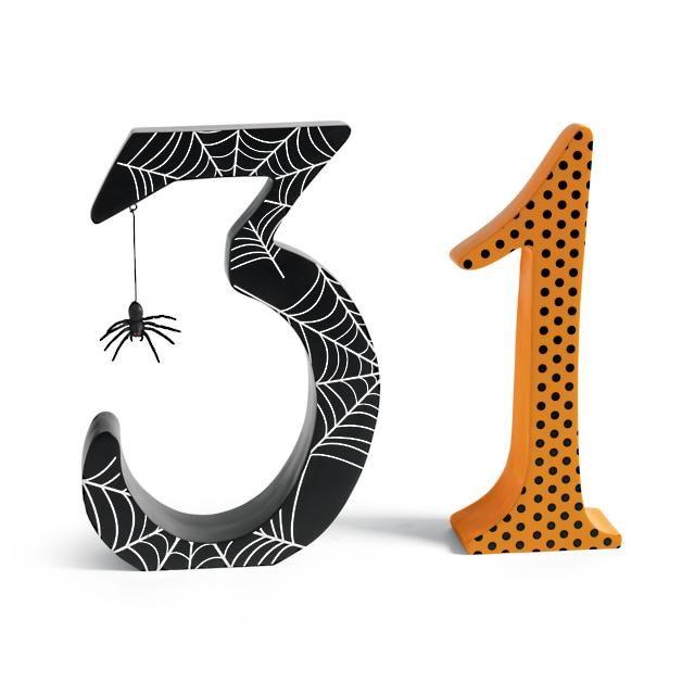 Halloween Mantel Block Party 2020 31 Block Numbers in 2020 | Halloween decorations indoor, Halloween