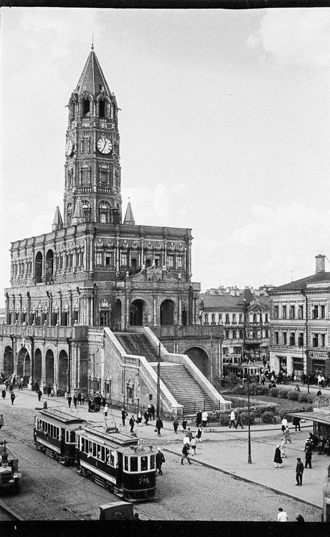 Sukharevskaya tower 1930's. Moskow. Denver university collection. Cоветские фотографии из архивов Денверского университета