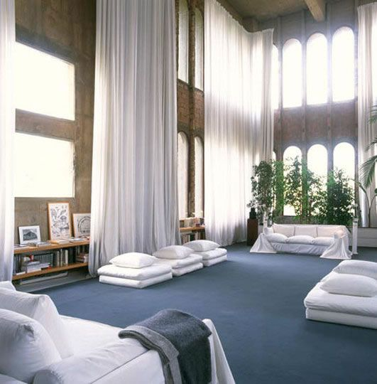 The Amazing Cement Factory Loft by Ricardo Bofill
