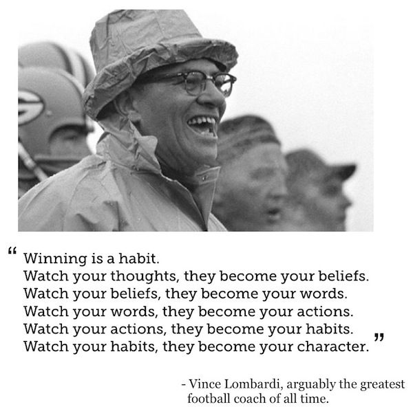 vince lombardi quote - this has been on my son's wall forever helping guide him.