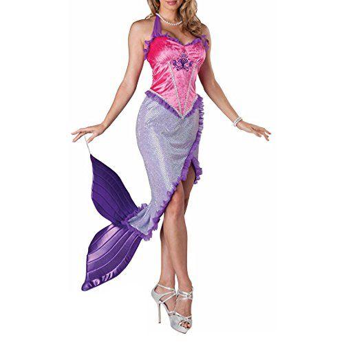 Damen Sexy Meerjungfrau Kostüm zu Halloween, Karneval und Fasching | ca €23