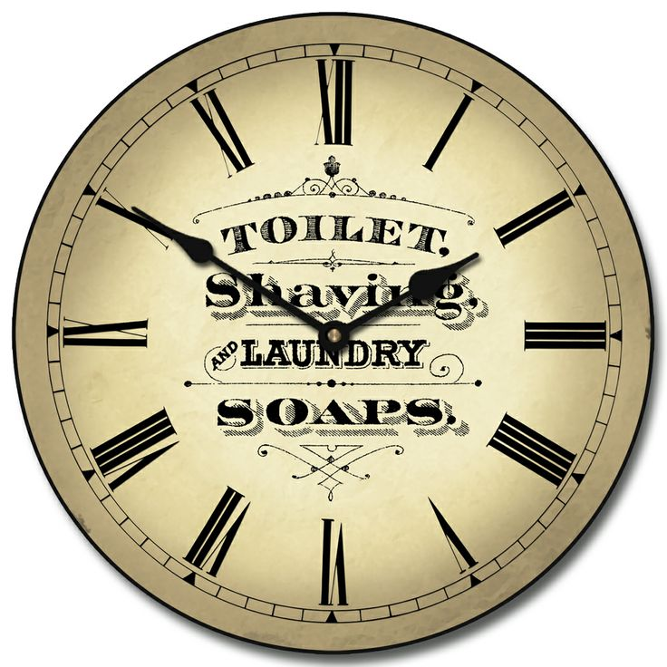 BRAND NEW DESIGN  Vintage Powder Room Brown Clock comes in seven sizes  12 9 best Bathroom Clocks images on Pinterest   Bathroom clocks  . Small Bathroom Clocks. Home Design Ideas