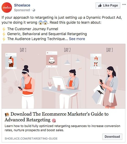 Facebook Ad for The Ecommerce Marketers Guide to Retargetting