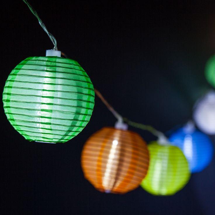Multicolor Solar Lantern Light String
