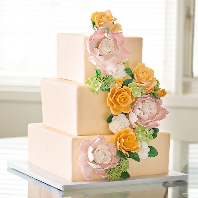 peach wedding cake flowers 265 best images about weddings on 18145