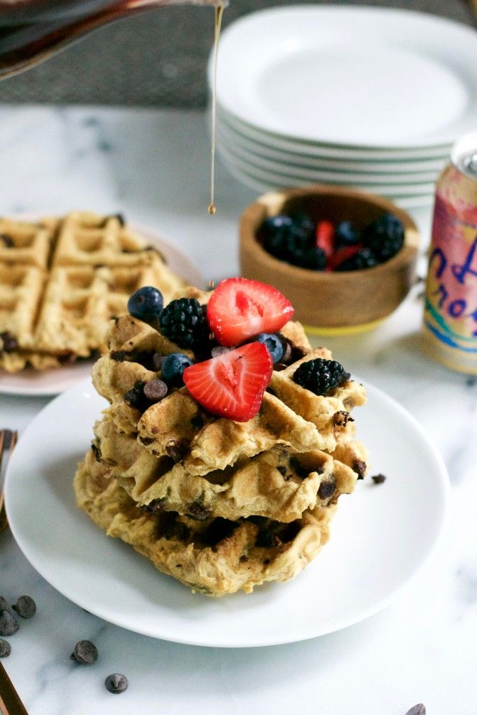 ... Waffles on Pinterest | Oatmeal waffles, Blueberry waffles and Red