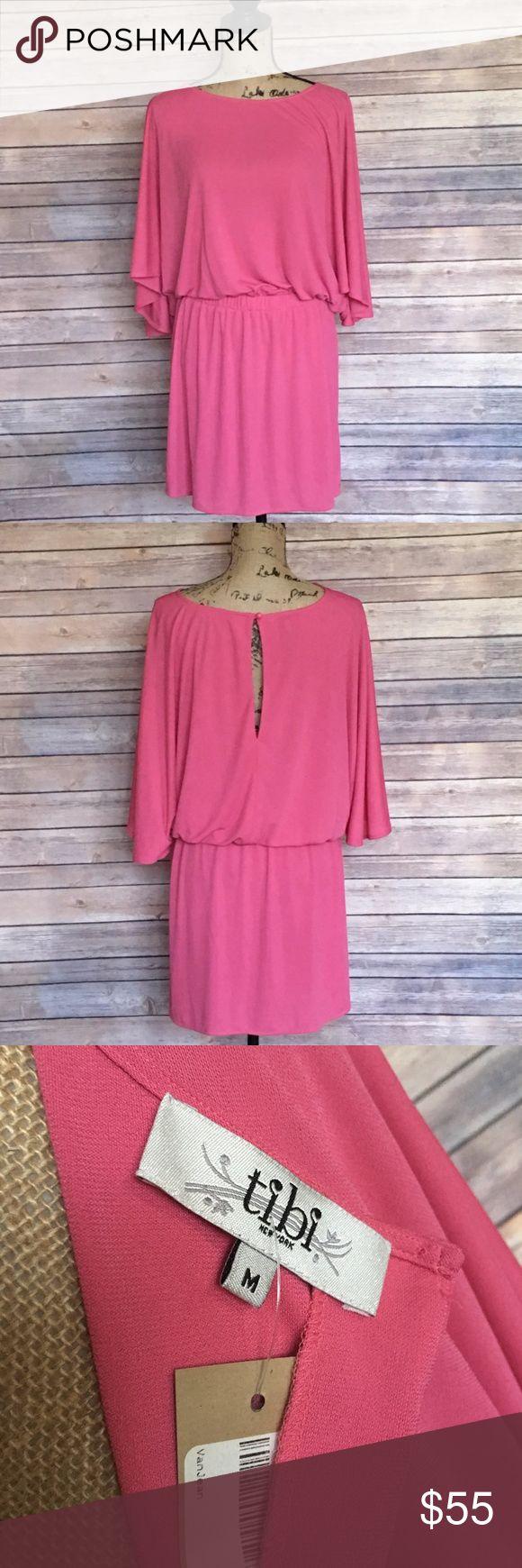 Tibi Copa Cobana Dress NEW Size Medium Tibi Pink Copa Cobana Dress Stretchy Waist Keyhole Back Brand New With Tags Tibi Dresses