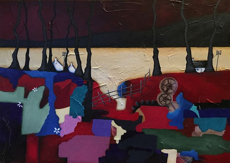 Lazy Day in Muasdale. 70 x 50cm. Acrylic on Canvas. (C) BauenArt 2016