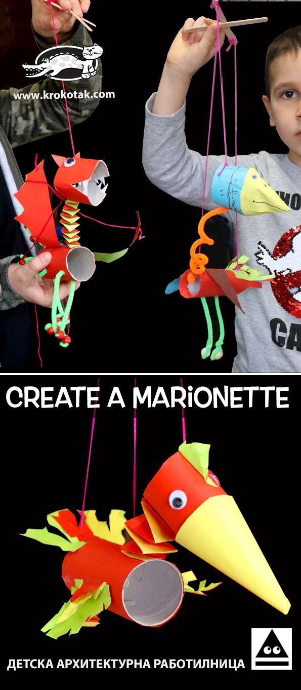 Toilet Paper Roll Marionette (krokotak)