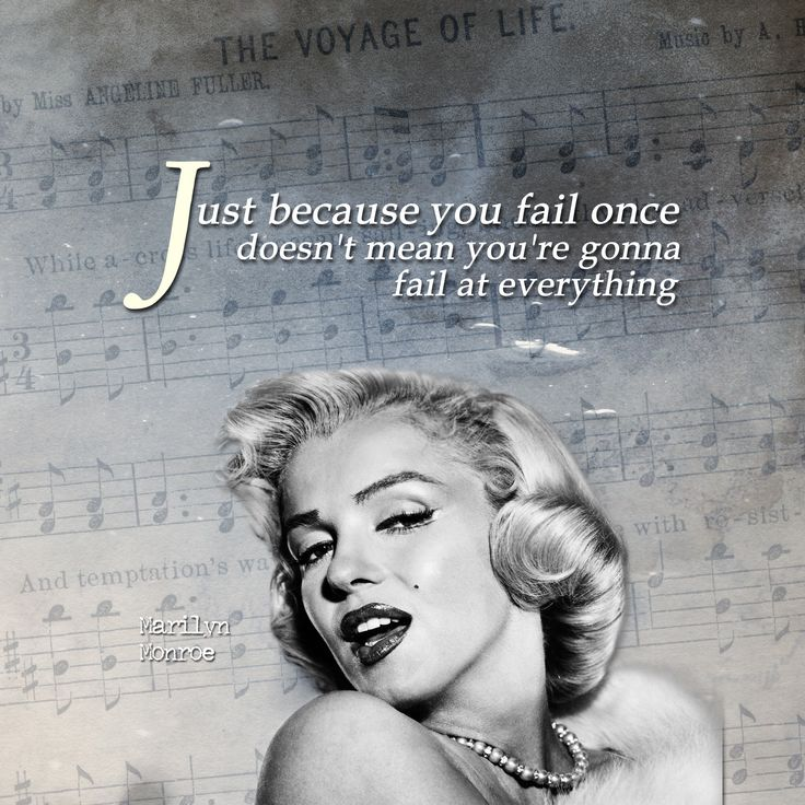 Inspirational iPad Wallpaper – Failure by Marilyn Monroe | iPad Wallpaper