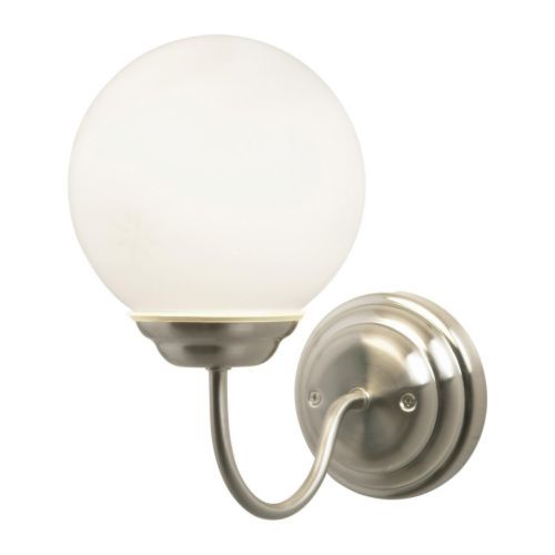 2 at bathroom vanity? $15 LILLHOLMEN Wall lamp IKEA Flexible; can be mounted with the light turned downwards or upwards.