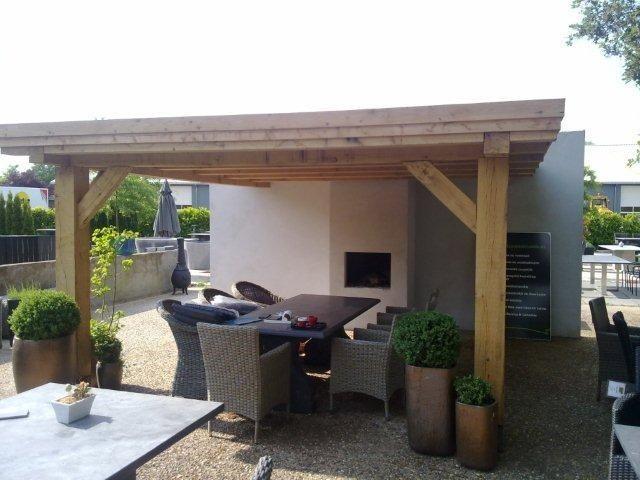 Mooie houten terrasoverkapping (patio roof) <3 Fonteyn