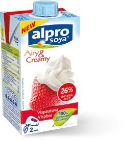 Alpro Soya kremfløte 250ml. Denne inneholder sukker, men jeg bruker den en sjelden gang til kaker og desserter. Fåes i velassorterte dagligvarebutikker og helsekost.