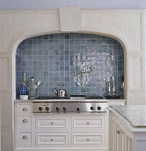 Carerrau0027s Kitchen. Blue Kitchen TilesBlue BacksplashBlue ...