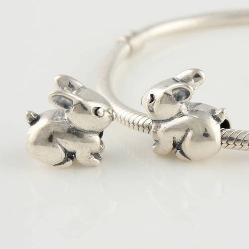 Bunny Rabbit 925 Sterling Silver Charms Beads For Pandora