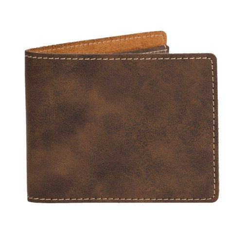 AGRADE SUEDED LEATHERETTE SLIM FOLD WALLET