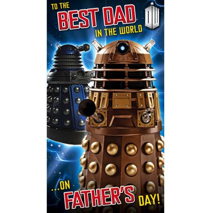 Doctor Who Father's Day Dad Card featuring the Daleks! Get directly from publishers Danilo.com with Free UK Delivery. Worldwide shipping also available