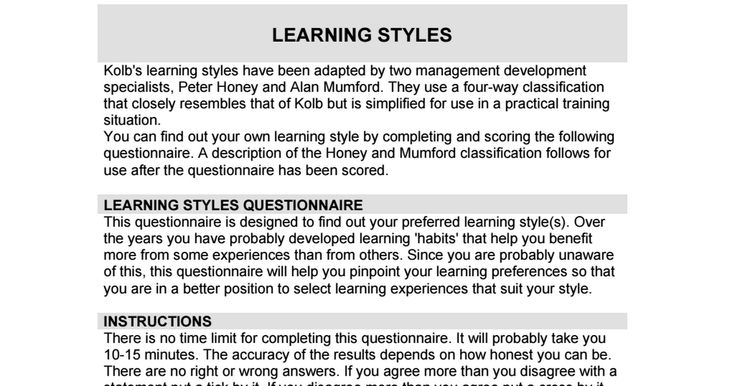 What s Your Learning Style