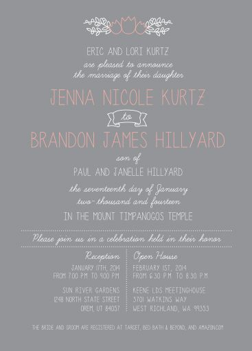 116 best Simple Wedding Invitations images on Pinterest Easy
