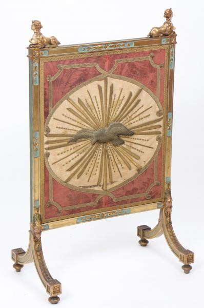PAREFEU LOUIS XVI En bois doré et polychrome richement sculpté, à motifs de [...], Très Grande Vente de Prestige à Oise Enchères   Auction.fr