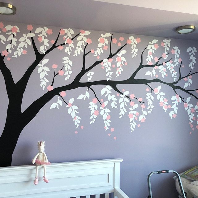 Cherry Blossom Wall Decal Cherry Blossom Decal Baby Nursery Etsy Star Wall Decals Wall Stickers Bedroom Wall Decals
