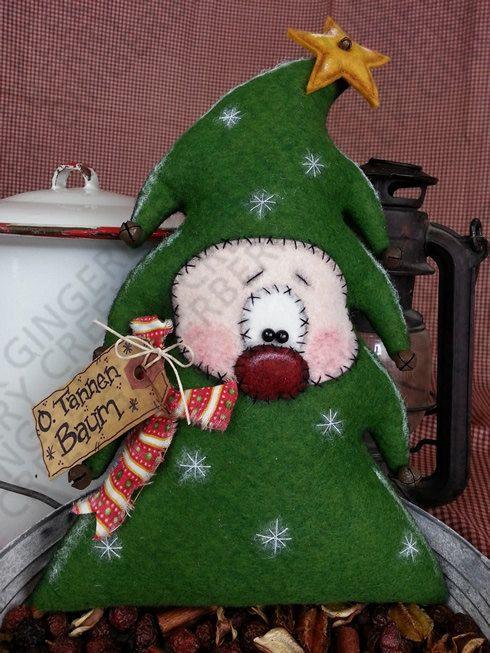 O. tannen Baum patrón de árbol de Navidad 130 por GingerberryCreek