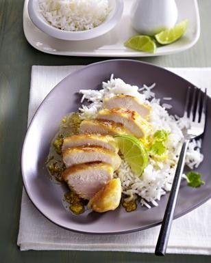 Asiatisches Hähnchen mit Basmati-Reis