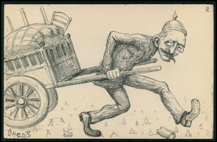 Dreyfus German Helmet Political Caricature -1905